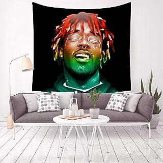 LCCKSS Lil Rap Uzi Hiphop Vert Rainbow Tapestry 3D Wall Hanging Home Decor Blanket Room Decoration 59.1 X 59.1 Inch