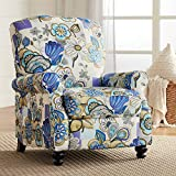 Ethel Indigo Floral Push Back Recliner Chair - Elm Lane