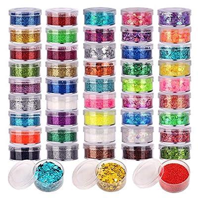 48 Farben Glitzer Set
