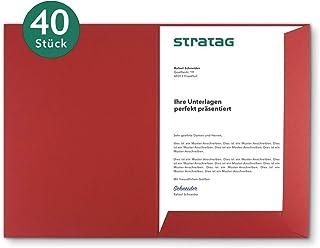 Classeur de présentation A4 rouge rubis (au choix) - Disponible en 7 couleurs - directement par le fabricant STRATAG- Util...