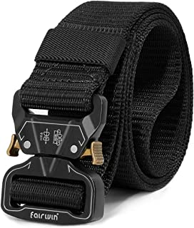 Tactical Belt for Men, Military Style Utility Nylon Rigger Belt with Heavy-Duty Unique Quick-Release Metal Buckle