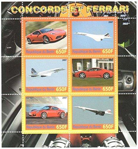 Stampbank Bolli Auto Classiche da Collezione - Concorde e Ferrari - 6 francobolli - Unmounted e unhinged