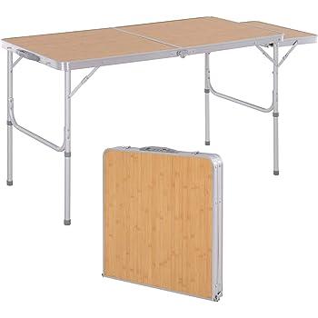 AMANKA Mesa para Acampada 120x60x70cm de Aluminio Plegable ...