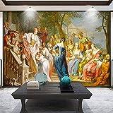 Papel Tapiz Fotográfico 3D Estilo Europeo Personas Pintura Al Óleo Cuadros De Pared Para Sala De Estar Hotel Dormitorio Arte Mural Decoración Del Hogar 250(Ancho) X175(Alto) Cm