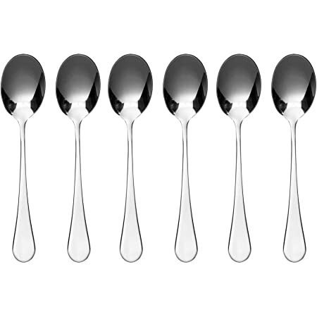 Stainless Steel Black Rockingham Forge 2TES650BK Tea Spoons