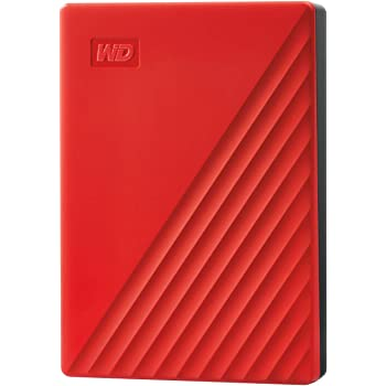 WD ポータブルHDD 4TB USB3.0 レッド My Passport 暗号化 パスワード保護 外付けハードディスク / 3年保証 WDBPKJ0040BRD-WESN