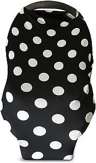 Infant Car Seat Cover (Black/White Polka dot)