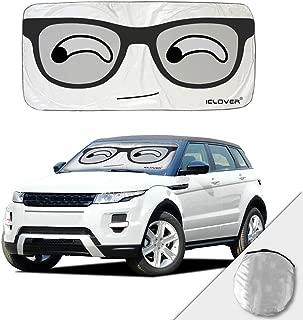 HOMEYA Car Sun Shade Windshield Sunshade Cover, Cute Cartoon Eyes Sunshades UV Protector Novelty Visor Shield for SUV Auto Vehicle Trucks Minivan Baby Kids Window (59 x 33.5 Inch)