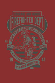 "Schedule Planner 2020: Schedule Book 2020 with Firefighter Retro Cover | Weekly Planner 2020 | 6"" x 9"" 
