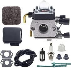 TOEDUK FS85 Carburetor Kit for Stihl FS80 FS85 FS75 HS75 HS80 HS85 FS85R FS85T FS85RX Edger Hedge Trimmer with 4137 141 0500 Air Filter Cover