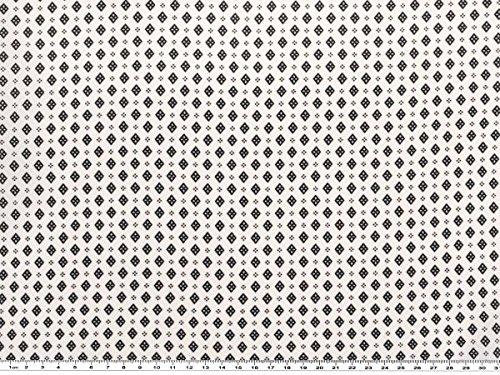 Blusenstoff, geometr. Motive, natur-schwarz, 150cm