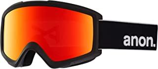Anon Helix 2.0 Snow Goggles Black with Sonar Red & Amber Lens