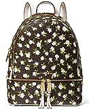 Michael Kors Rhea Zip Medium Backpack Brown Multi One Size