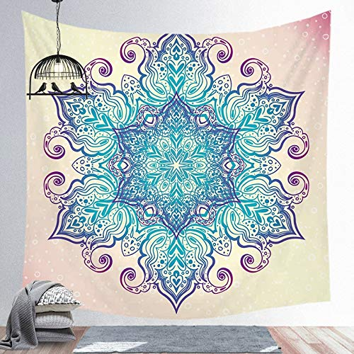 Mandala tapiz indio colgante de pared decoración de playa bohemia hogar dormitorio arte tela de fondo a11 130x150cm