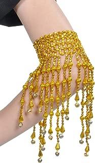 Lauthen.S Belly Dance Arm Cuffs Bracelets, Tassels Wristband Ankles Chain Gypsy Jewelry