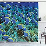 Ambesonne Ocean Shower Curtain, School of Powder...