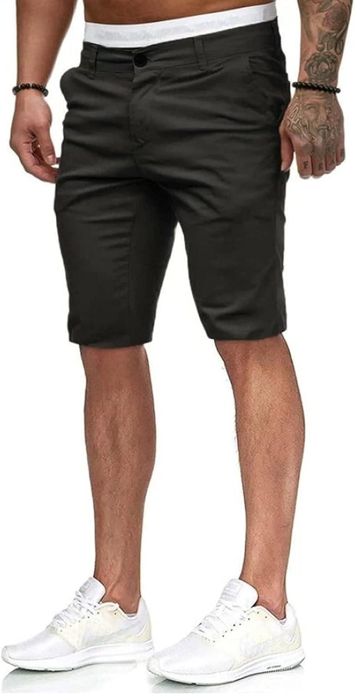 TingM Men's Joggers Pants Workout Shorts Casual Pockets Cargo Shorts Breathable Work Hiking Shorts