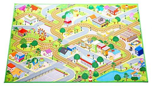 HOK Tapete de Juego Doble Cara con diseños de Ciudad y Campo