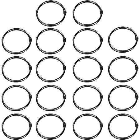 Loose Leaf Binder Ring Black Plastic O Ring Buckle Book Hoops Albums Supplies Craft Binding Book Hoops DIY Accessories #FLC275-B