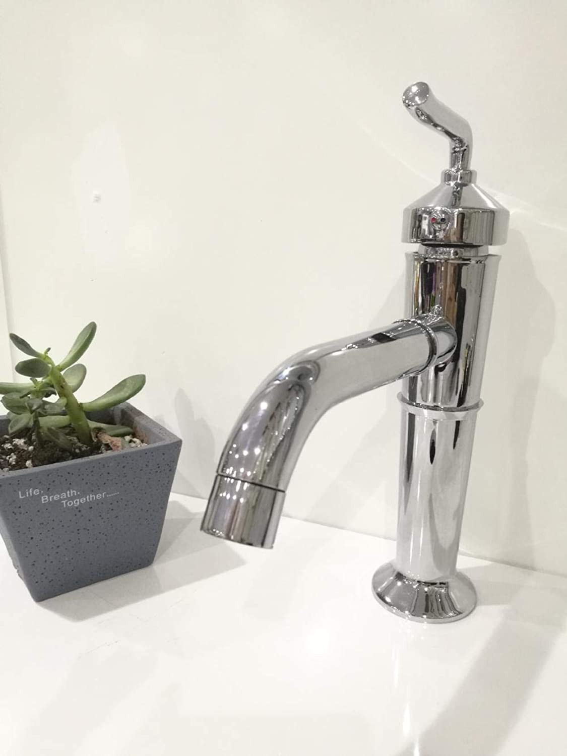 Faucet Chrome Sink Hot And Cold Basin Faucet_Bathroom Hot And Cold Basin Copper Plating Wash Basin Faucet