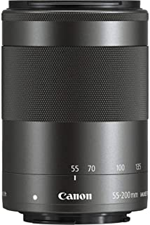 Canon EF-M 55-200 mm f/4.5-6.3 IS STM Lens for Camera,Black