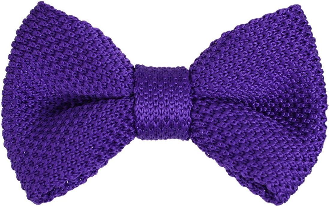 Wedding Knit Pretied Bow Tie Solid Clip-On Adjustable Knit Bowties Purple Weddings Yong-Boy DBG3E01K Dan Smith Blue Violet Feel Silk