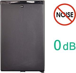 SMETA Quiet Mini Fridge 1.76 cu ft Silent Hotel Mini Bar Zero Noise Absorption Fridge for Bedroom Hotel Dorm, Black