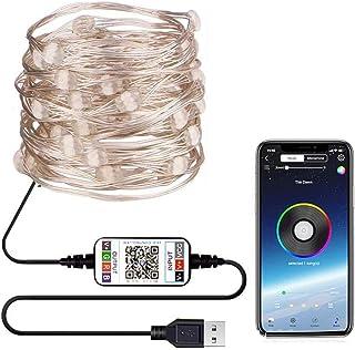 LED-lichtslingers 20 meter Bluetooth LED-strips USB-kerstverlichting met 200 leds IP65 waterdichte DIY-sfeerverlichting Ke...