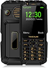Điện thoại di động Android – Peedeu Unlocked Rugged Smartphone – 4G Android Touchscreen,Lightweight, Shock Proof,Dustproof,Big Button Military Grade Camera Flash Light WiFi FM Radio Slot Dual Sim Phone,12800mAh Big Battery