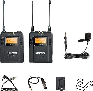 Saramonic UWMIC9-TX9+RX9 - Sistema de micrófono de Solapa inalámbrico, Color Negro