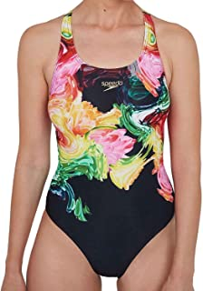 Speedo Women's Colourblend Placement Digital Powerback Swim Briefs