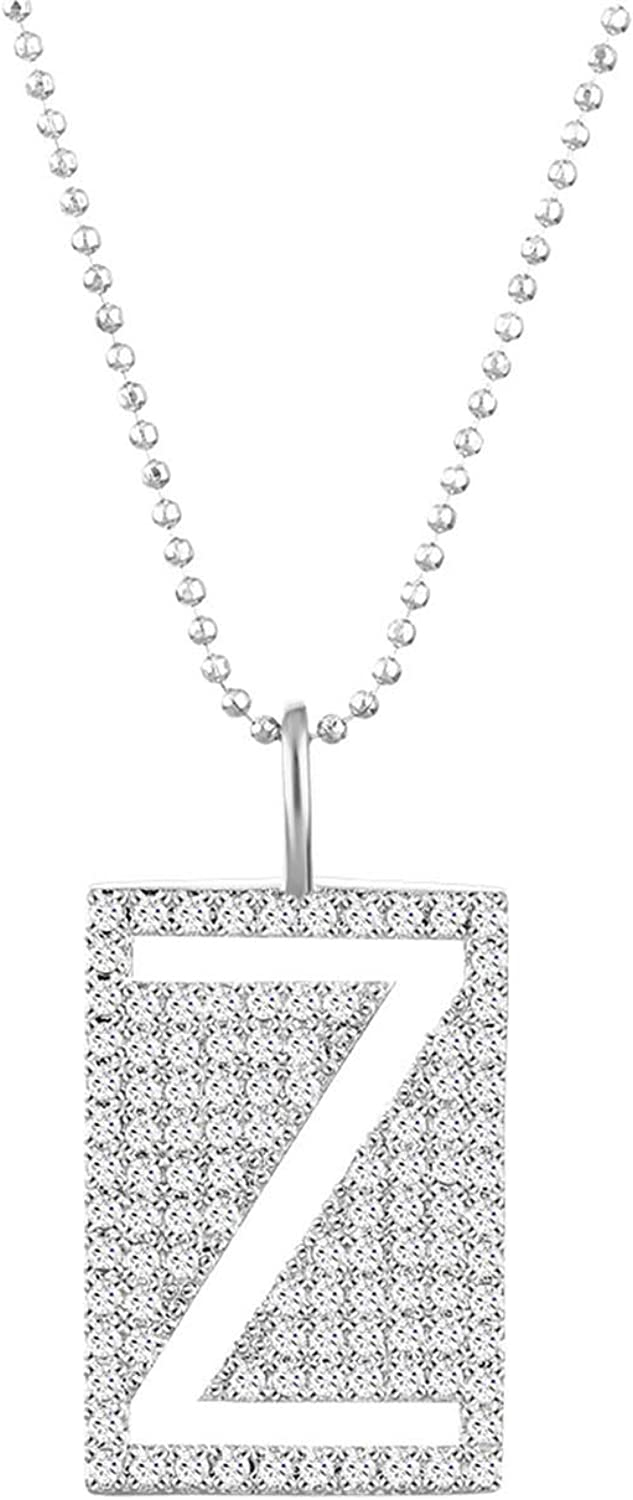 COTTVOTT Initial Letter New product Pendant Necklace OFFicial mail order Alphabet Mo A-Z Capital