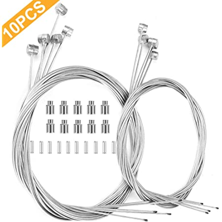 ALHONGA Terminal Kit Cable Nose Cone 35404 Bike MTB Disc Brake Compatible Shimano
