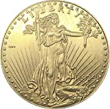 Exquisite Collection of Commemorative Coins United States of America 20 Dollars Saint-Gaudens - Double Eagle with motto 1929 Brass Metal Copy Coin Art Souvenir Decorations Replica Discovery Collection
