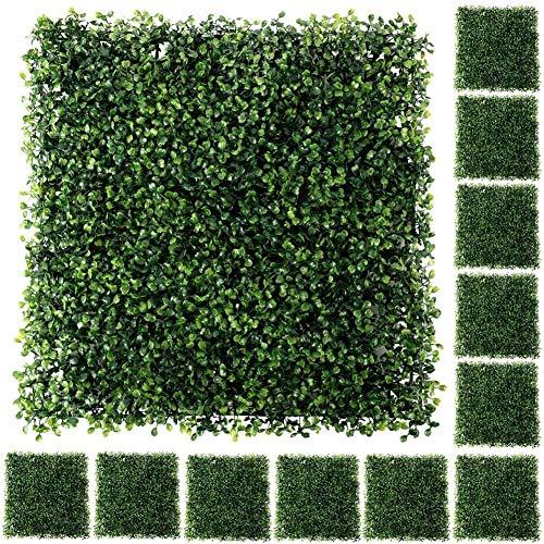 Plantas artificiales decorativas 50 '' x 50 '' Jardín de pantalla valla de privacidad Artificial Topiary del seto de boj Planta paneles de privacidad Valla Verde pantallas for al aire libre de interio