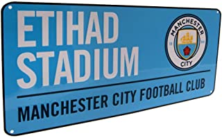 Manchester City FC Official Soccer Colored Metal Street Sign