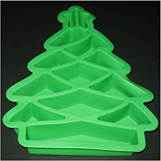 UrbanTrend SILICONE CHRISTMAS TREE PULL APART CUPCAKE PAN CAKE BAKING MOLD GREEN