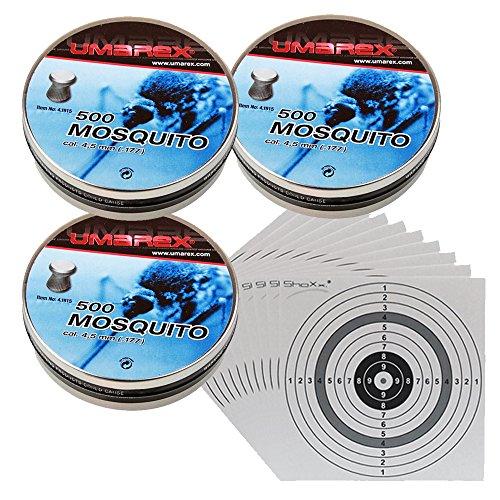 1500 Umarex Mosquito Diabolos Kaliber 4,5mm + 100 shoot-club Zielscheiben