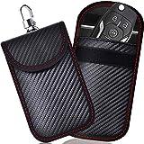 Keyless Go Schutz Autoschlüssel, 2 STK Mini RFID Autoschlüssel Schutz Keyless Go Schutzhülle Funkschlüssel Abschirmung Schlüsselmäppchen Leder Schlüsseletui Schlüsseltasche Strahlenschutz