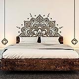 ONETOTOP Mandala Art Vinilo Pegatinas de Pared Mandala Bohemia decoración de la Cama de la Flor Accesorios extraíbles Tatuajes de Pared cabecero Dormitorio Mural 84 * 42cm