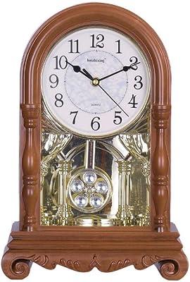 Reloj de mesa decorativo Escritorio de madera del hogar del reloj ...