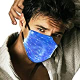 Led Rave Mask Light Up Mask Glowing 7 Colors Luminous Costumes Party Christmas...