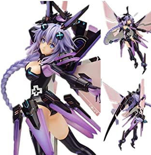 25cm Japanese Anime Choujigen Game Neptune Hyperdimension Neptunia Broccoli Neptune Figurine PVC Action Figure Purple Heart Doll Stand Model