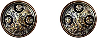 Chaoticfashion Doctor Who Earrings 12mm Time Lord Symbol Jewelry Gift Charm