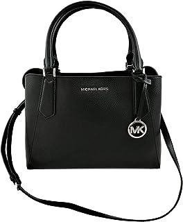 Mikchael Kors Women's Large East West Leather Satchel, Black O/S