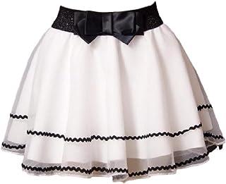 [momo's market] チュチュ スカート レディース リボン ウエストゴム フリーサイズ