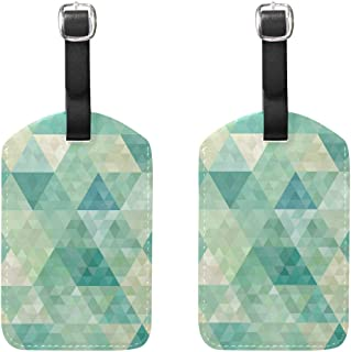 MASSIKOA Abstract Geometric Cruise Luggage Tags Suitcase Labels Bag,2 Pack