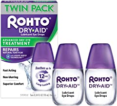 Dry-Aid Eye Relief Lubricant Eye Drops, Twin Pack (0.34 Ounce Each)