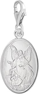 Guardian Angel Charm With Lobster Claw Clasp, Charms for Bracelets and Necklaces