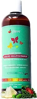 Yuve Vegan Liquid Daily Multivitamin - Vitamins A B C D3 E, Zinc, Biotin, Opti MSM, Minerals & Amino Acids Complex (BCAA) - Natural, Non-GMO, Paleo, Sugar & Gluten Free - Cherry & Cranberry - 16oz